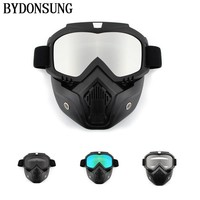 Cycling Glasses Men Cycling Face Mask Winter Sports Ski Snowboard Eyewear Wind Stopper Face Mask Bicycle Motorcycle Goggles