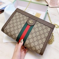 Gucci Classic Popular Women Shopping Bag Leather Shoulder Bag Crossbody Satchel