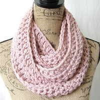 Made To Order Light Pink Light Rose Cowl Scarf Fall Winter Women's Accessory Infinity / Original Has Sold, But Happy To Made One Just For U