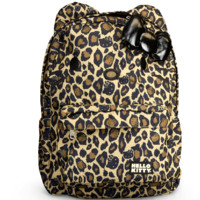 Hello Kitty Leopard Print Backpack with Ears and 3D Bow - Full Size Backpack 16""