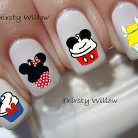 Disney Cupcakes Nail Decals