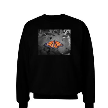 Monarch Butterfly Photo Adult Dark Sweatshirt