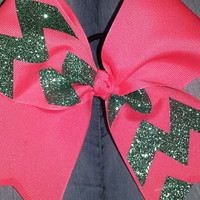 Chevron Glitter Bow