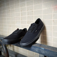 VANS Black Leisure turn fur The skateboard with canvas BMX