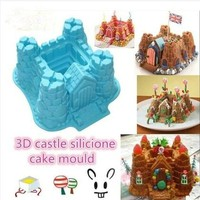 Silicone Castle Shapes Cake Mould chocolate Baking Cup cake Pan = 5658098113
