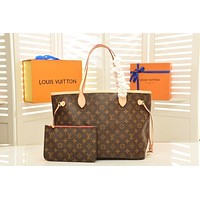 LV Louis Vuitton MONOGRAM CANVAS GM NEVERFULL HANDBAG TOTE BAG