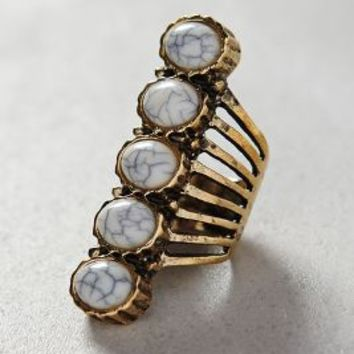 Smokestack Ring by Anthropologie White One Size Jewelry