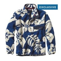Patagonia Men's Lightweight Synchilla® Snap-T® Pullover | Spice Garden: Navy Blue