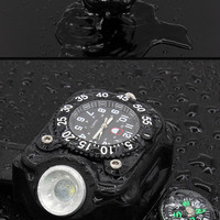 Rechargeable LED Waterproof Tactical Wristwatch