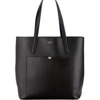 Panama North-South Tote Bag, Black - Smythson