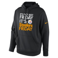 Nike Sideline KO Fleece Full-Zip (NFL Steelers) Men's Training Hoodie