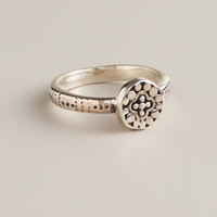 Small Sterling Silver Round Ring - World Market