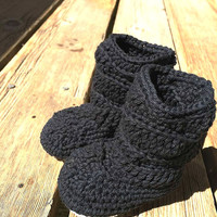 Crochet Slouch Baby Booties Winter Slippers Baby Girl Slippers Toddler Slippers 0-6 months 6-12 months 12-18 months