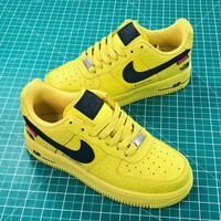 Supreme X The North Face Tnf X Nike Air Force 1 Af1 Low Yellow Black Shoes - Best Online Sale