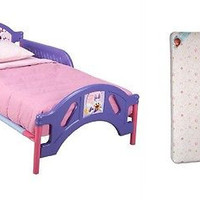 Toddler Furniture Bed and Mattress Bundle Set