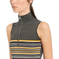 Sleeveless silk sweater