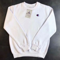 Champion sweater white and black two hooded blouse blouse sweater  F-CN-CFPFGYS