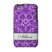 Custom Name Damask Case For The iPhone 3 from Zazzle.com