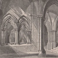 Antique Print East end of the Crypt Glasgow Cathedral Scotland (A39) by Grandpa's Market