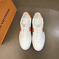 lv louis vuitton men fashion boots fashionable casual leather breathable sneakers running shoes 658