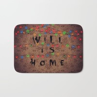 WILL IS HOME Bath Mat by Colorful Chic And Coffee