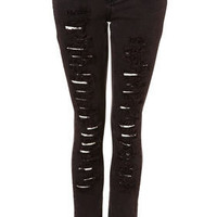 MOTO Raspberry Ripped Skinny Jean - Jeans - Apparel - Topshop USA