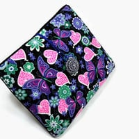 Hand Crafted Tablet Case from Floral Fabric/Case for:iPadMini,Kindle Fire HD7,Samsung Galaxy 7, Google Nexus,  Nook HD 7