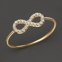 Zoë Chicco 14K Yellow Gold Infinity Pavé Diamond Ring, .12 ct. t.w.