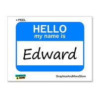 Edward Hello My Name Is Sticker