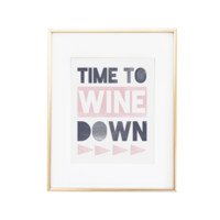 Time to Wine Down Bar Cart Art Print