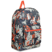 Schools In Backpacks Orange Camo Crazy