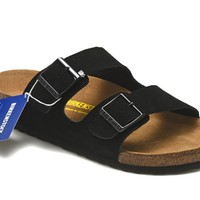 Men's and Women's BIRKENSTOCK sandals Arizona Soft Footbed Suede Leather 632632288-083