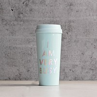 "Ban.do - Hot Stuff Thermal Mug ""I Am Very Busy"" in Ice Blue"