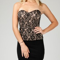 ANGL   Sexy Lace Bustier Tube Top