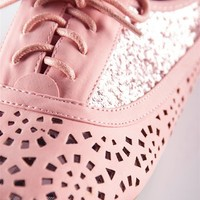 Cut Out and Glitter Oxford - Coral from Casual & Day at Lucky 21 Lucky 21
