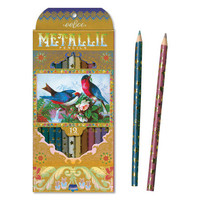 Metallic Victorian Birds Pencils