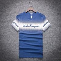 Salvatore Ferragamo Fashion Casual Shirt Top Tee-8