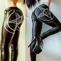 Sexy Gothic Leather Leggings