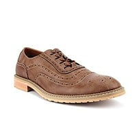 Ferro Aldo Mens 19385LE Contrast Stitch Perforated Lace Up Oxfords Dress Shoes