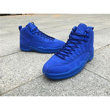 Air Jordan 12 Plum Fog GS royal blue Boost Basketball Shoes 40-47