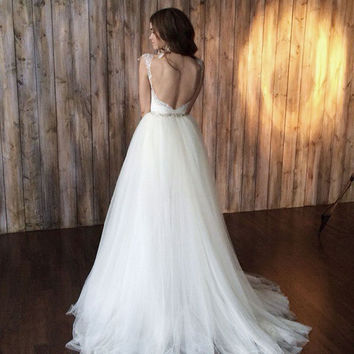 Wedding dress !!! Only 1 available!!! Size 84-64-92 -PRICE 2,150.00 EUR!!! Wedding dress 2 in 1, short wedding dress, beach wedding dress
