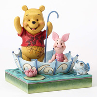 """Disney Jim Shore Traditions Pooh and Piglet Sharing """"50 Years of Friendship"""" New"""