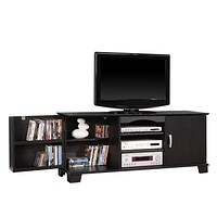"60"" Black Wood TV Stand Console"