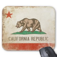 Mousepad with Distressed California Republic Flag
