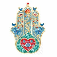 5D Diamond Painting Abstract Heart Hamsa Kit