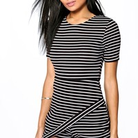 Alex Striped Skort Playsuit