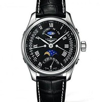 New Longines Master Collection Automatic Black Dial Leather Strap Men's Watch L2.739.4.51.7