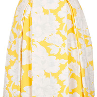 Yellow Floral Pleat Calf Skirt - Sale - Sale & Offers - Topshop USA