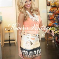 Angie Tribal Sequins Skirt