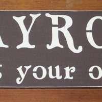 PLAYROOM Wood Sign Enter at your own risk ON SALE